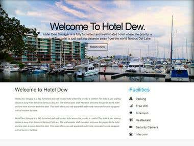 HotelDew - Hotel Website