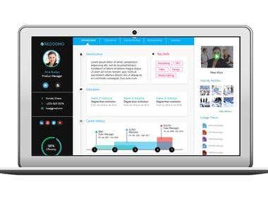 Rezoomo UI/UX design (Desktop & Mobile View)