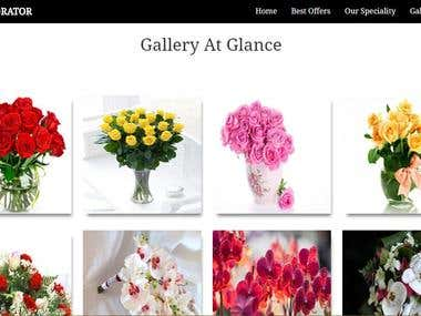 Flower Shop Php website