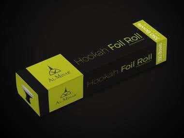 Hookah Foil Roll Box Design