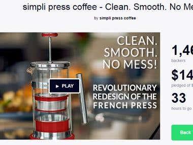 Simpli press Kickstarter Campaign