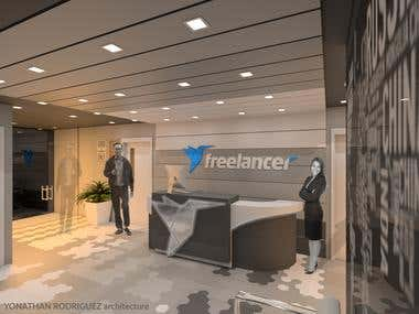 Freelancer Reception Area