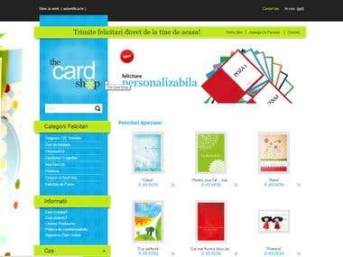 Online greeting card shop