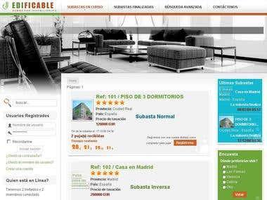 Portal Inmobiliario para mercado español