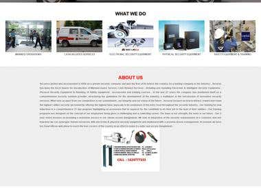 Security Company Website