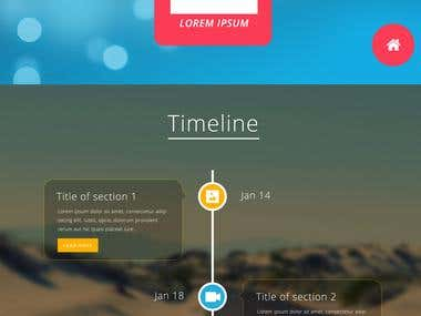 One Page Parallax Design PSD to HTML5, Bootstrap 3
