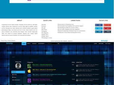forum template