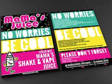MaMa's Juice A5 Promotional Flyer