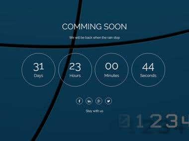 Comming soon countdown