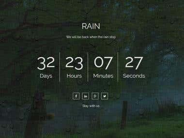 Landing page countdown