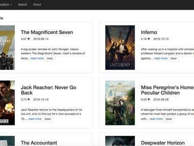 Popstub (movies web app)