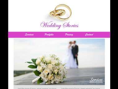 Wedding Stories Web Design
