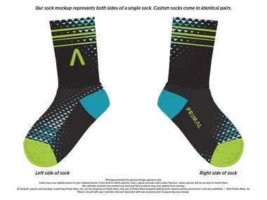 Primal sock designs