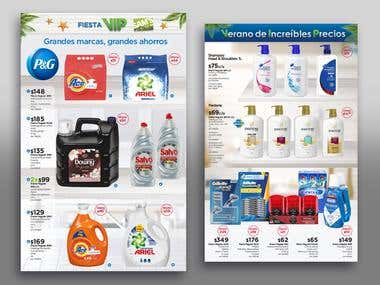 Promotional products flyer for Sam´s Club México.