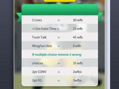 WingFan fantasy football game  App