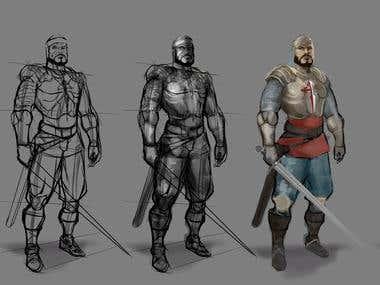 Concept of a warrior