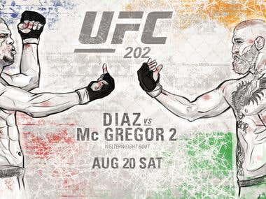 UFC 202 Fan art
