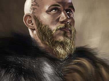 Ragnar Lodbrok fro the Vikings Series