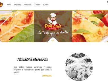 Pasta Restaurant Web Site