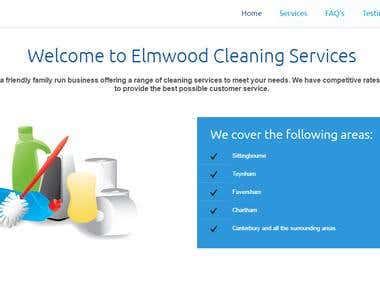 Design Logo and Build Website for Elmwood Cleaning Service
