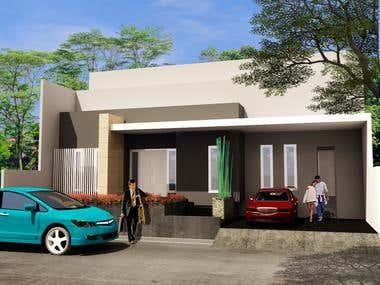 Single house 3d project