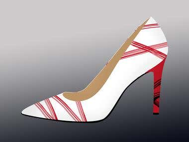 footwear design/ fashion  printing design