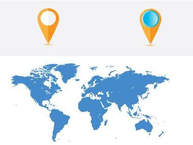 Map art work