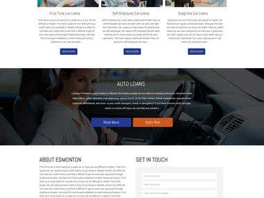 Auto Loan Company Website