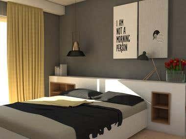 Interior design concept 3d modeling and render