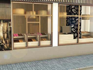 Bagel shop design and concept