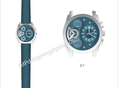 Wrist watch CAD designs