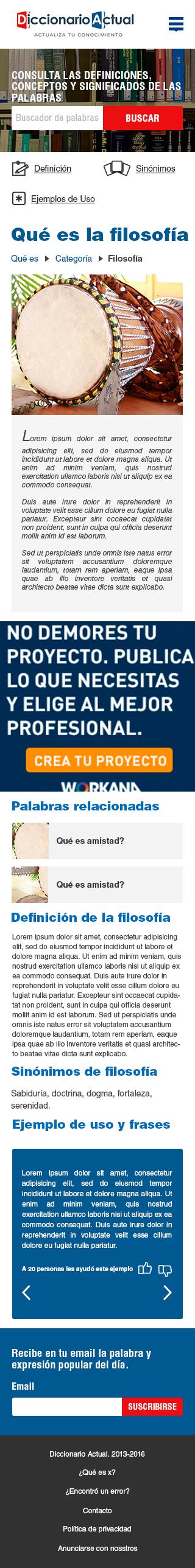 Diseño web para Diccionario Actual