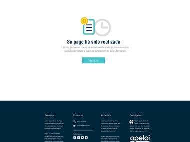 Diseño de página web Apetoi.com