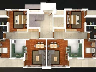 Floor Plan Render's