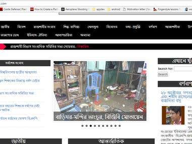 News portal using wordpress