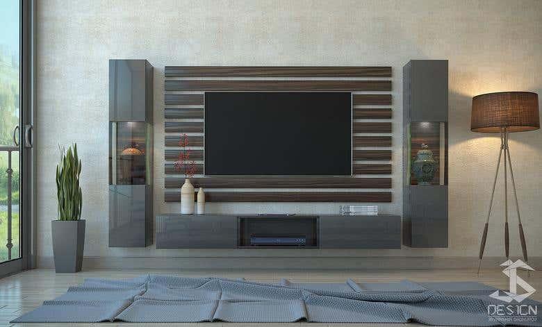 interior design for tv unit photoshop