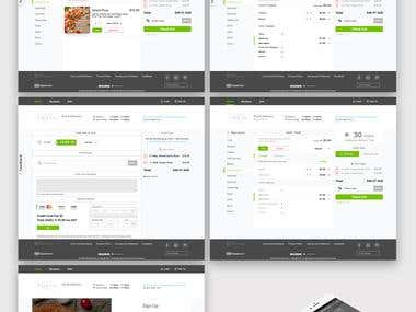 UI/UX for Web Food Delevery Platform