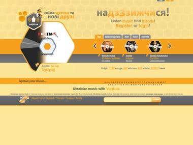 http://www.vulyk.ua/L/en - social network - a music portal;