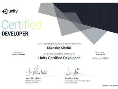 Unity Certication