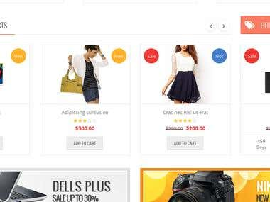 Orienko Responsive Shopping site