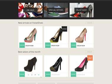 PSD Design For Shopping Template