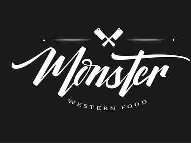 Logo Design and business card : Monster western food
