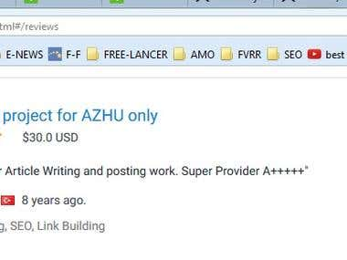 Link Building Project for AZHU