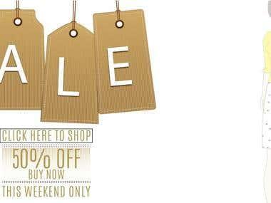 banner ads : zalora Sale promotion
