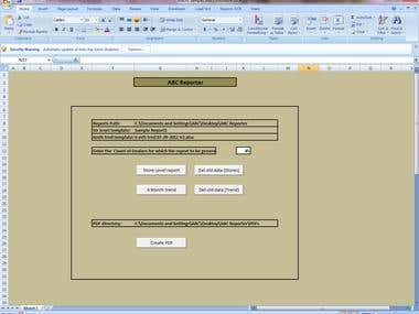Excel Form project