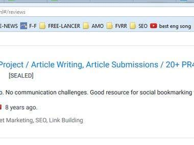Link building/ Article Submission