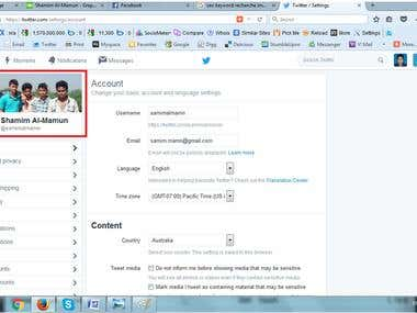 Twitter Account Set-up