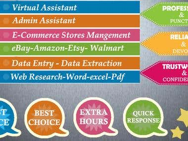 I can Help you to create and manage online store