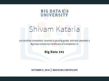 Big Data Foundations - Level 1 Certification