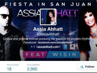 Redes sociales / Social Media: Assia Ahhatt